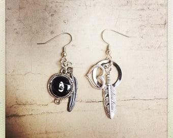 Foo Fighters inspired dangle earrings