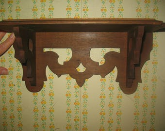 Small 12 Inch Wood Decorative Shelf Handmade