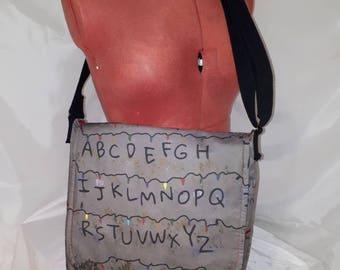 Made to order, Stranger Things Messenger Bag, Bag, Slouch bag, Sci-fi, Tv, Cross Body Bag, College bag,