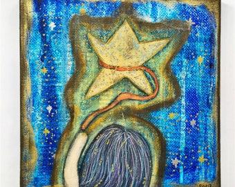 Attracting Success Art Work. Mixed media artwork. Original Art for Sale, Original Art Work, Fine Art, Original Painting, Gift Women