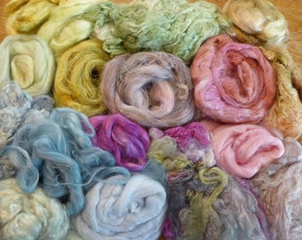 Hope Jacare - Hand dyed plant fibre pack -  approx 140g corn/banana/rose/flax/ramie and bamboo fibre - PF16