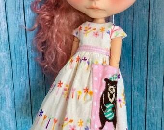 Whimsical Bear Dress for Blythe