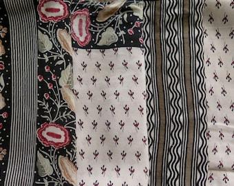 Fat Quarters, Silk Fabric, Sari Silk, FQ 4