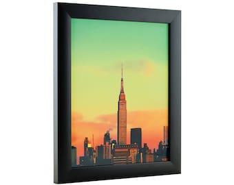 "Craig Frames, 10x24 Inch Modern Black Picture Frame, Contemporary 1"" Wide (1WB3BK1024)"