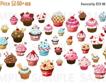 Cupcakes, Planner Stickers, Sweets, Food, Pink, Treats, Variety, Set