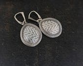 Sterling Silver Minutae Dangle Earrings