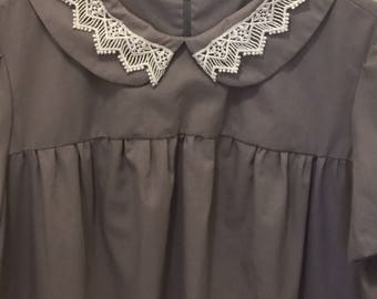 Vintage pattern tent dress Peter Pan collar/maternity dress
