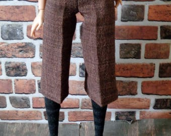 Brown Tweed Cropped Trousers for Barbie or similar fashion doll