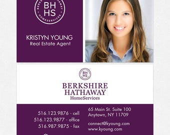 BH realtor business cards - thick, color both sides - FREE UPS ground shipping