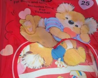 vintage kirby koala valentine card set of 25, unopened, unused, new in package