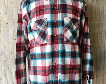 Vintage 1980's Five Brother Flannel Shirt 2XL