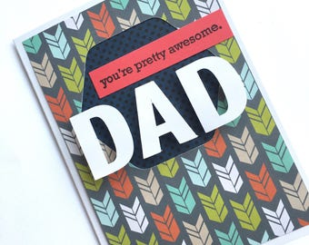 Dad Card // Father's Day Card // Card for Dad // You're Pretty Awesome Card **READY TO SHIP**
