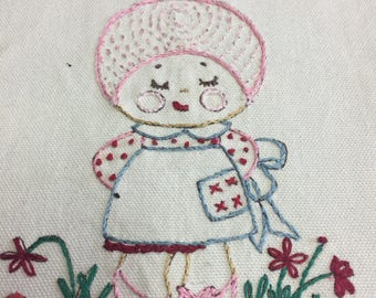 Embroidered Sampler/Pillow Top