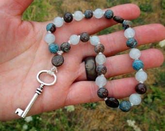 Frigga Pagan Prayer Beads  / Mini Mala / Mini Rosary - Norse Goddess of Motherhood, Hearth & Home, Queen of Asgard / Norse prayer beads
