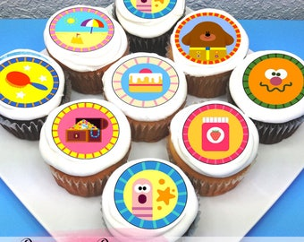 "Hey Duggee Edible Icing Cupcake Toppers - 2"" - PRE-CUT - Sheet of 15"
