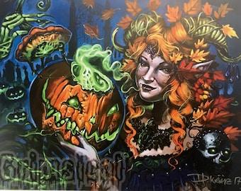 Pumpkin Queen Art Print