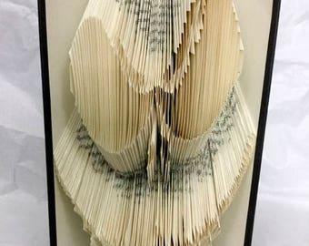 Nightmare Before Christmas Jack Skellington Skeleton Face Folded Book Folding Art
