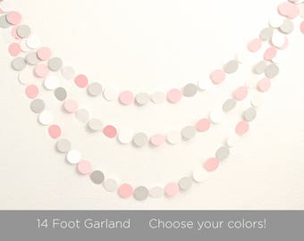 Paper Garland -   Baby Shower Decorations -  Choose Colors