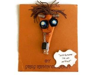 Vintage Wearable Art Pin Set by Gregg Kevin Delaney