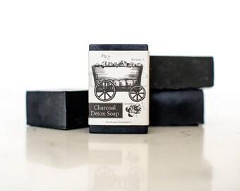 Detox Soap, Activated Charcoal Soap, Body Soap, Facial Soap, Tea Tree, Homemade Vegan Soap