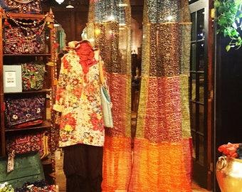 mehrfarbige sari vorhnge nehmen kundenspezifische auftrge sari fenstervorhnge bhmische vorhnge glitzer - Betthimmel Vorhnge