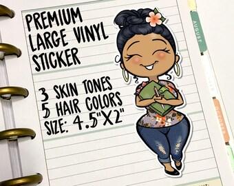 Large Vinyl Planner Girl Sticker Decal - Unicorn Paper, Erin Condren, Happy Planner, Kikki K