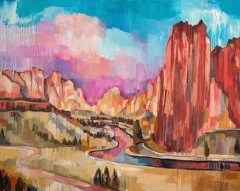 Smith Rock, giclee art print