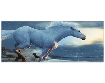Expressionist Wall Art 'Running Horse' by Ben Judd - Wildlife Decor Contemporary Horse Artwork on Metal or Plexiglass
