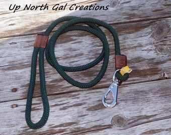 Green Dog Leash, Floating Leash, Pet Gift, New Puppy Leash, Goat Lead, Animal Leash, Polypropylene Material, UV resistant, USA, Michigan