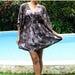 ON SALE OOAK Earth Tone Brown Coffee floral Kimono Cotton Dress