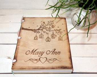Personalized Wedding Guest Book, ScrapBook, Journal,Personalized Album, Wedding Guest Books, Bride and Groom