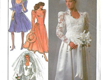Simplicity 8414 Bridal Sewing Pattern, Wedding Dress, Bridesmaid Dress,  Size 14 UNCUT
