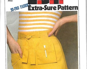 ON SALE Simplicity 8534 Misses Skirt With Attached Shorts, Golf Skirt, Tie Belt And Pouch Sewing Pattern, 8-12, UNCUT