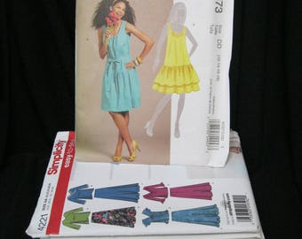 Lot of 10 patterns, size 10- 18 NOS from store liquidation, Simplicity 4221,  McCall's 5717, 5931, 4598, 5873, 5845, 8107, 6026, 5819, 5940