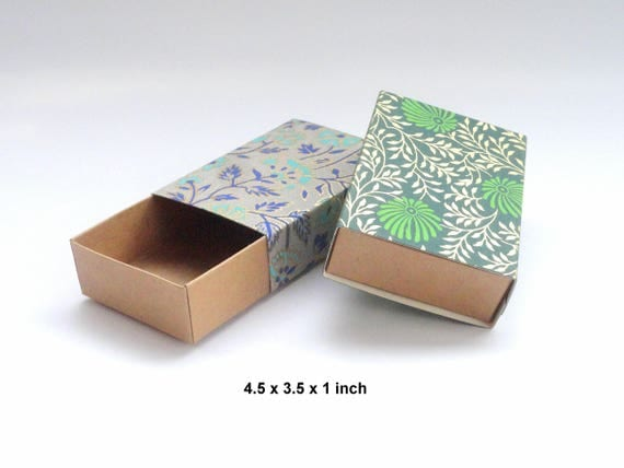 10 Floral print sliding box Jewelry Packaging Boxes Gift box
