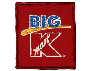 Big K Kmart Badge Patch Uniform Employee Tag Embroidered Sew On Applique