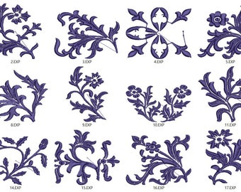 Decorative Scroll Work Flourishes Machine Embrodery files