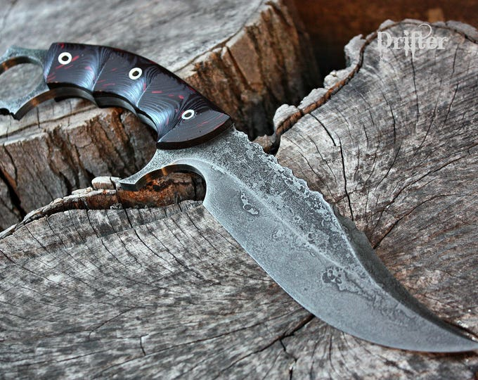 """Handcrafted FOF """"Drifter"""", survival ring blade"""