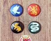 Hogwarts Houses inspired button pack ||| Gryffindor Slytherin Ravenclaw Hufflepuff 1in harry potter HP Potterhead