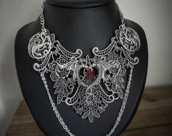 Silver necklace heart mother of dragons Game of Thrones♰ ♰Khaleesi