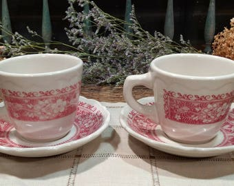 Vintage Syracuse China, Strawberry Hill Pattern / Design / Diner / Restaurant Ware / Price is for Pair / Made in USA