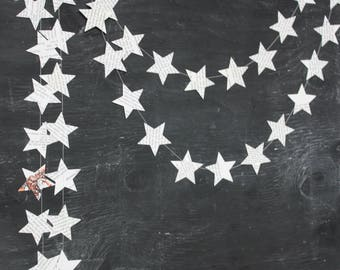 Twinkle Twinkle Little Star, Star Garlands, Paper Garland, Baby Shower Decorations, Book Page Stars, 2 inch Stars, 10 ft long