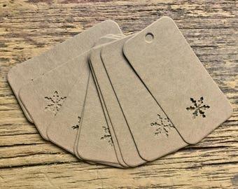 Snowflake gift tags snowflake Christmas tags snow flake tags gift tags Christmas