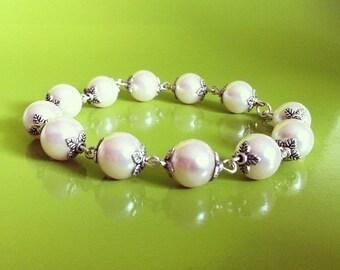 Bracelet light pink pearls