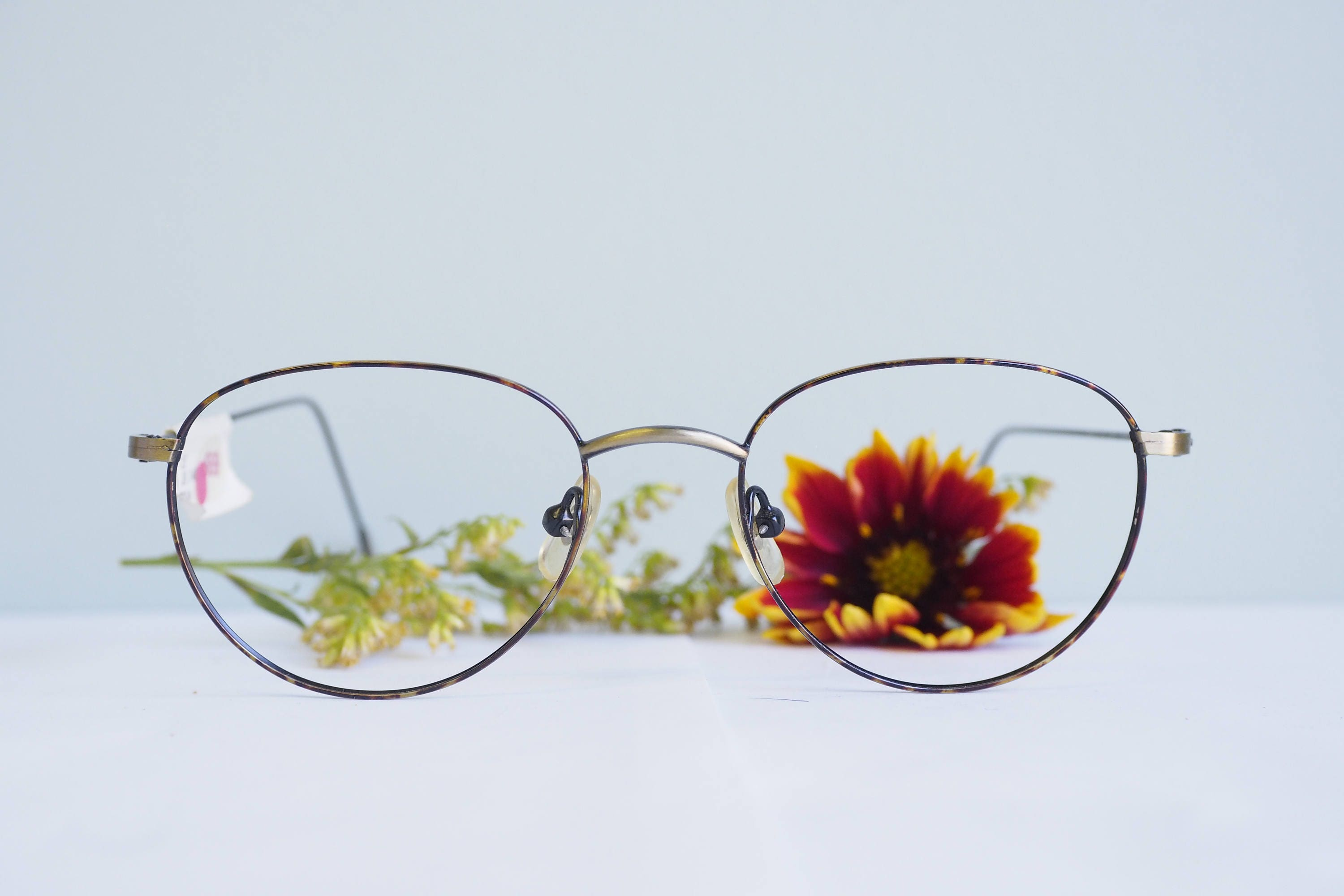 68d155e895b Vintage Eyeglass 1990 s Semi Oval shape Frames New Old Stock Glasses By  Zimco Multi Color Frames
