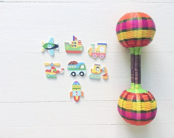 Kids Vehicle Wooden Buttons for Crafting Finish Touch to Your Handmade Items Knit Sewing Crochet Helicopter Rocket Boat