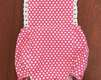 Baby girls' polka dot ruffle Sunsuit