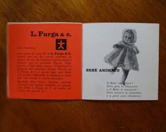 Vintage 1950s Furga Doll Baby Pamphlet, Furga Advertisement, Italian Dolls, Collectable Dolls, Doll Catalog