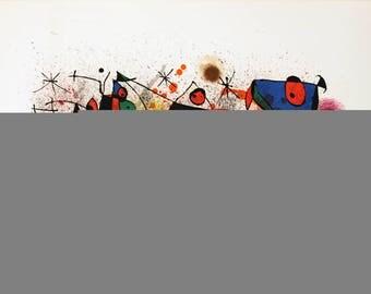 Joan Miro-Ceramics-1974 Lithograph