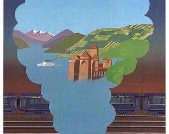 Pierre Fix-Masseau-The Alps-1981 Poster
